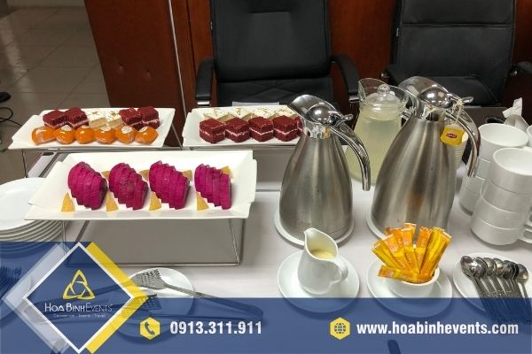 Tiệc teabreak do HoaBinh Events chuẩn bị