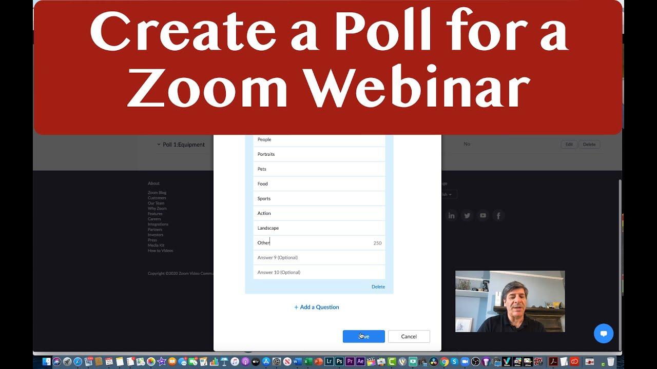 Tính năng bỏ phiếu trên Zoom