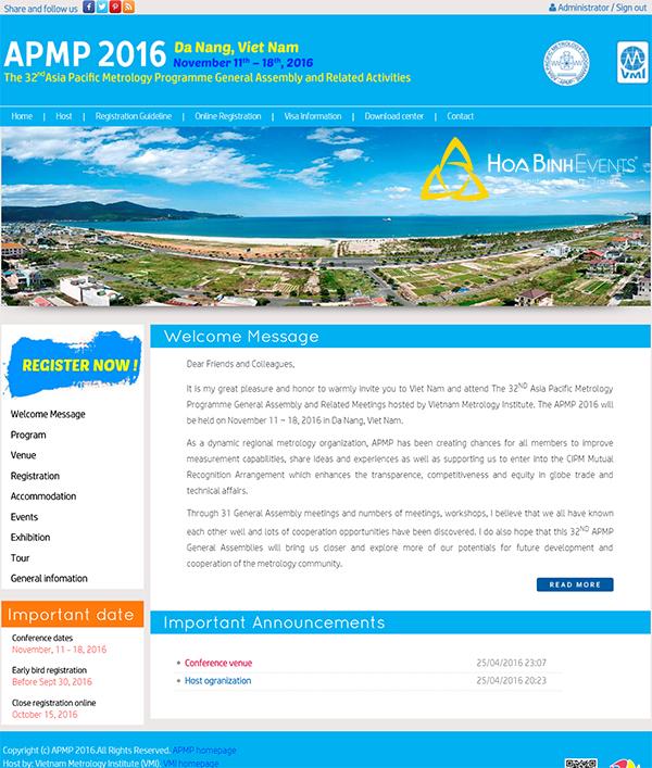 thiết kế website và quản trị hệ thống website hội nghị