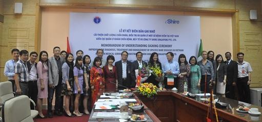 """Lễ kí Biên bản ghi nhớ hợp tác """"Cải thiện chất lượng Chẩn đoán, Điều trị và Quản lý một số Bệnh hiếm tại Việt Nam"""" giai đoạn 2018-2023"""