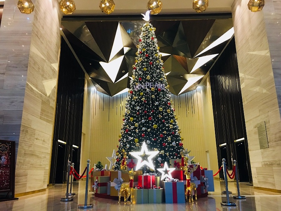 Mẫu trang trí Noel ở đại sảnh