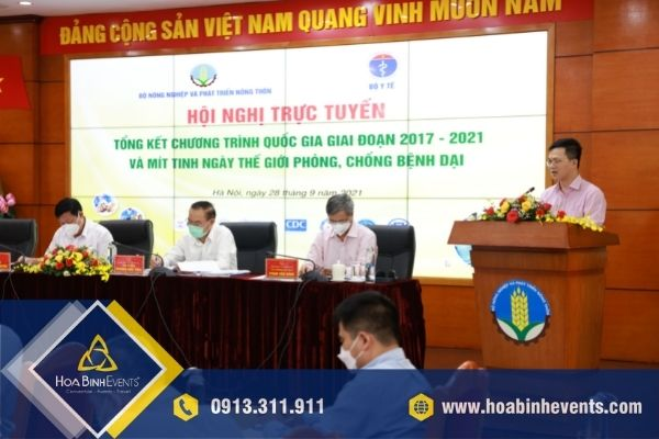 Hội nghị trực tuyến Tổng kết chương trình quốc gia 2017-2021 và ngày thế giới phòng chống bệnh dại