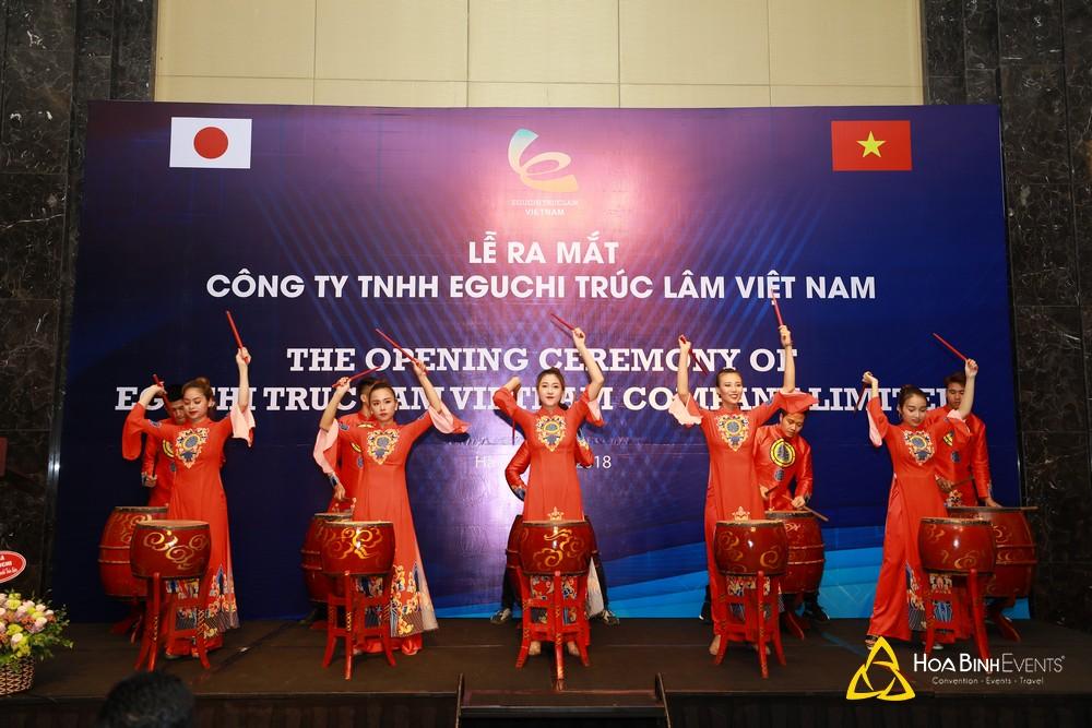 tổ chức lễ ra mắt công ty TNHH Eguchi Trúc Lâm Việt Nam tại JW Marriott Hanoi Hotel