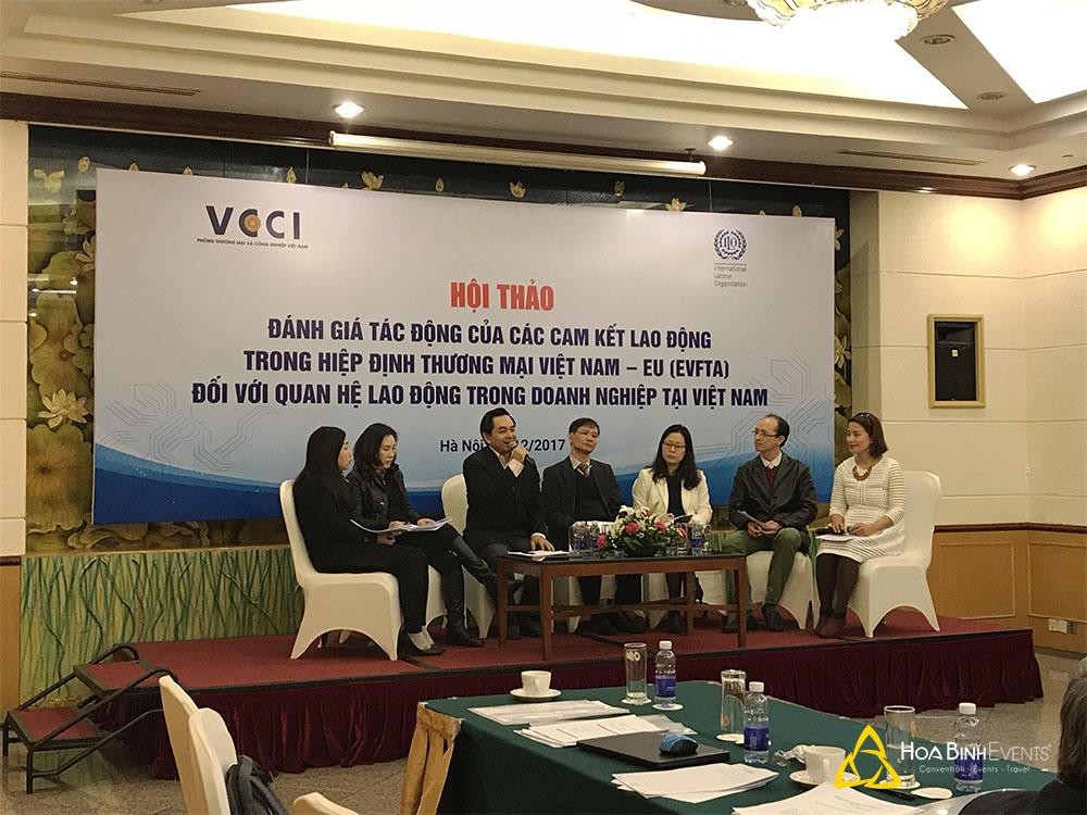 Hội thảo Đánh giá tác động của các cam kết lao động trong Hiệp định Thương Mại Việt Nam - EU (EVFTA) đối với quan hệ lao động trong doanh nghiệp tại Việt Nam