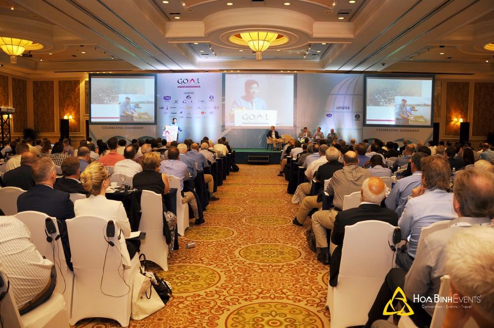 tổ chức hội nghị quốc tế GOAL 2014 - Global Outlook on Aquaculture Leadership tại Sheraton Saigon Hotel & Towers.