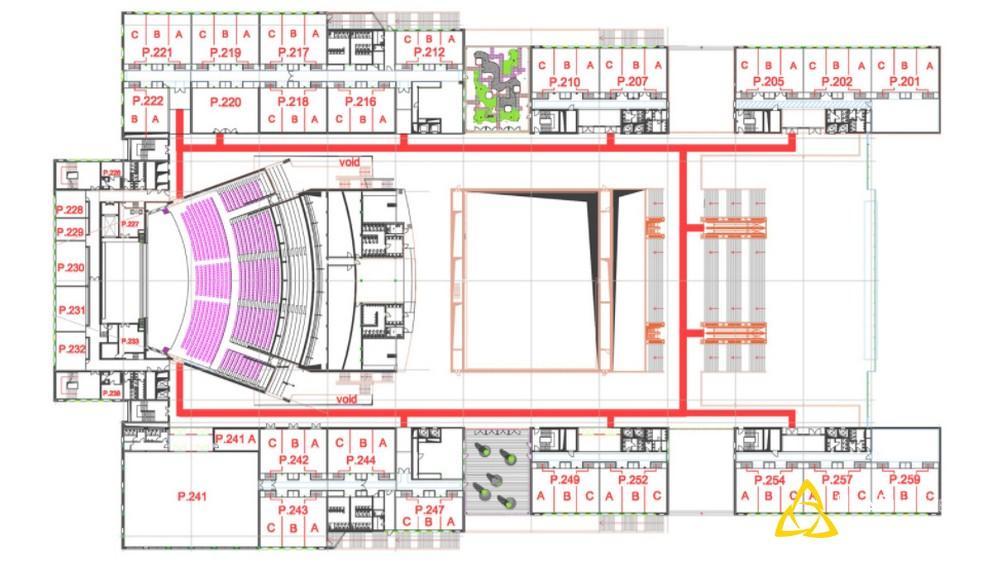 sơ đồ mặt bằng tầng 2 của NCC