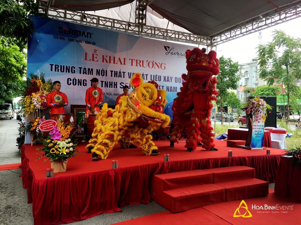 Lễ khai trương Trung tâm nội thất và vật liệu xây dựng Công ty TNHH Serman Việt Nam