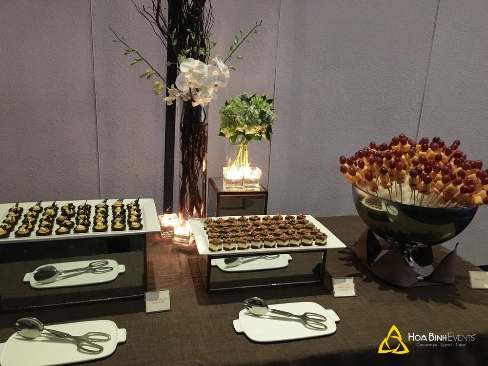 Dịch vụ tiệc tea break trọn gói của HoabinhEvents