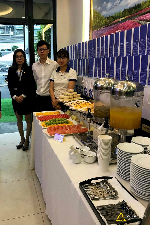 dịch vụ tiệc tea break tại lễ khai trương hoabinhevents.com