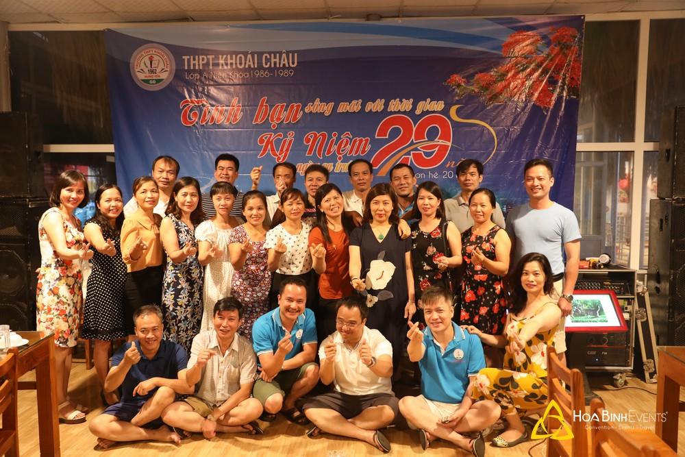 Kỷ niệm 29 năm ngày ra trường của tập thể lớp A Niên khóa 1986-1989 THPT Khoái Châu