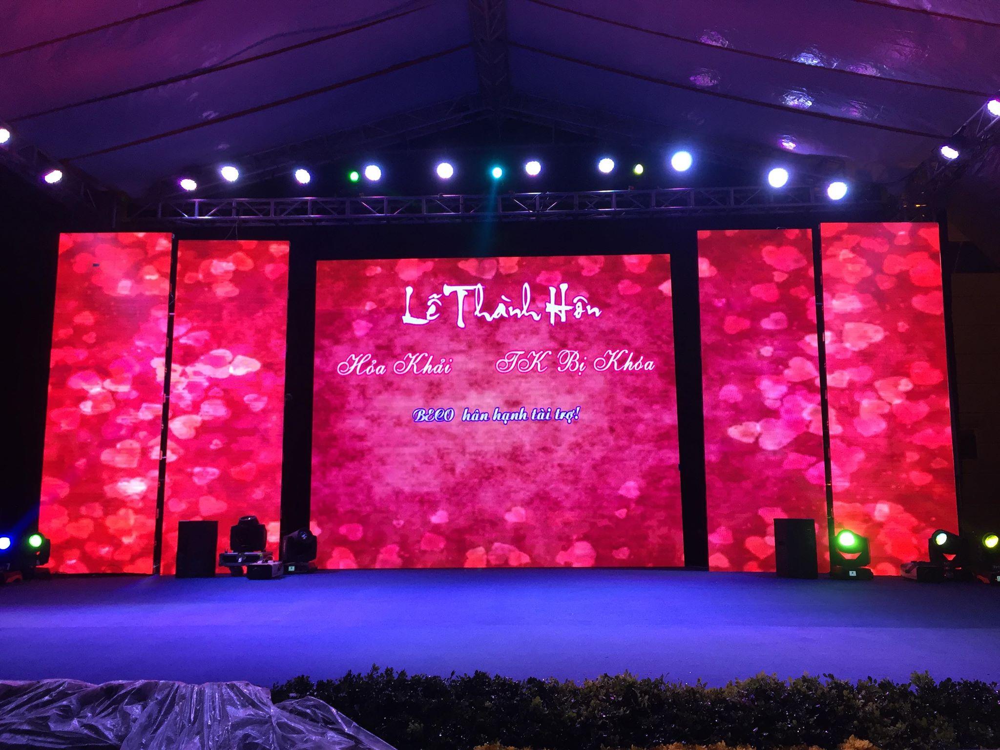 Vì sao tổ chức tiệc cưới sang trọng không thể thiếu màn hình LED?