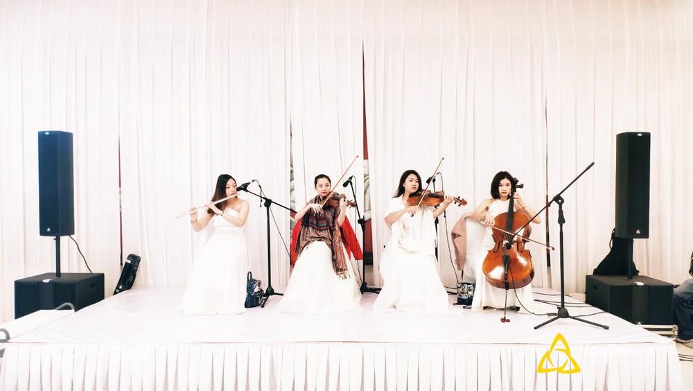 ban nhạc tứ tấu tại tiệc cưới