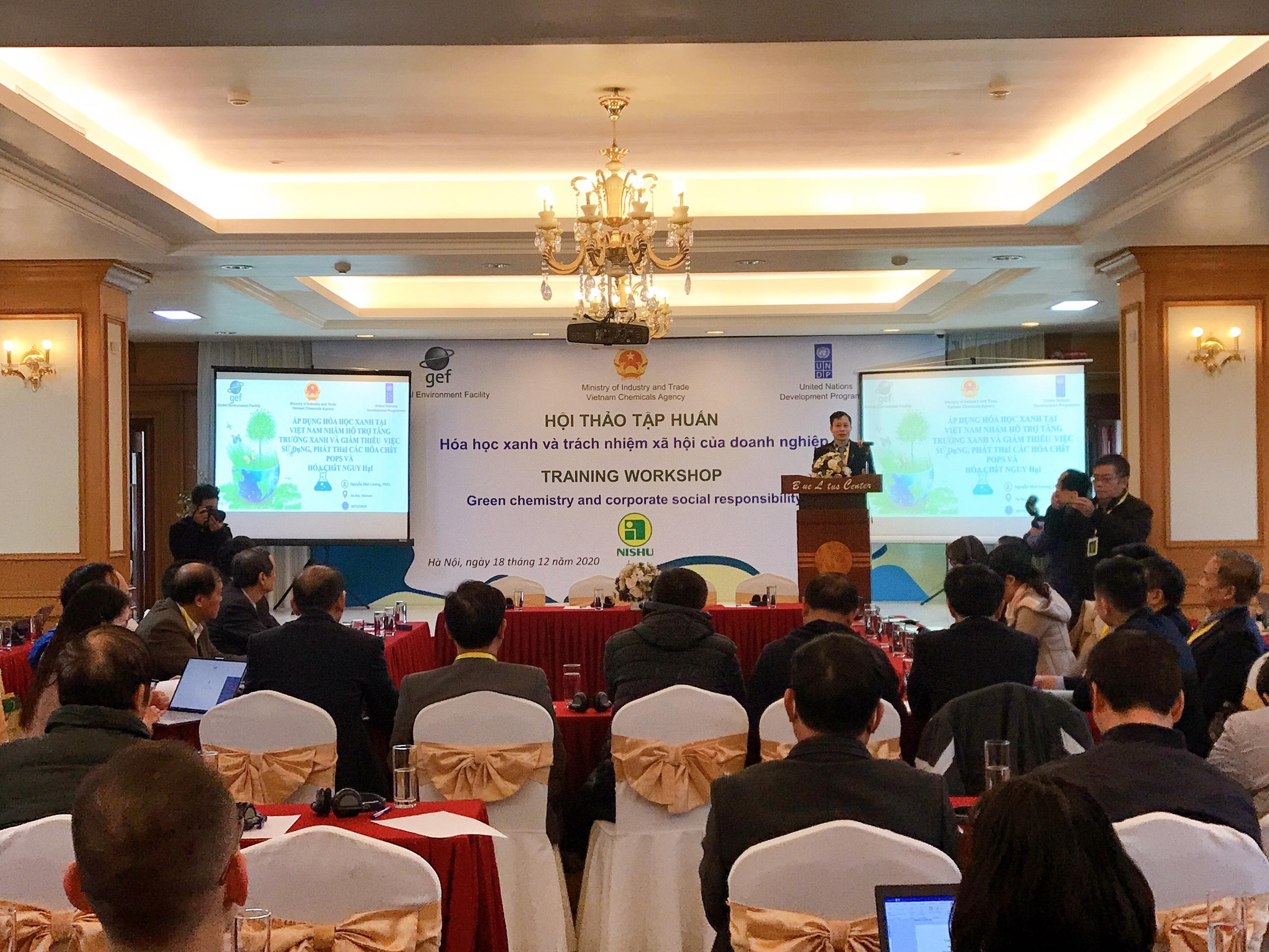 Hội thảo tập huấn: Hoá học xanh và trách nhiệm xã hội của doanh nghiệp